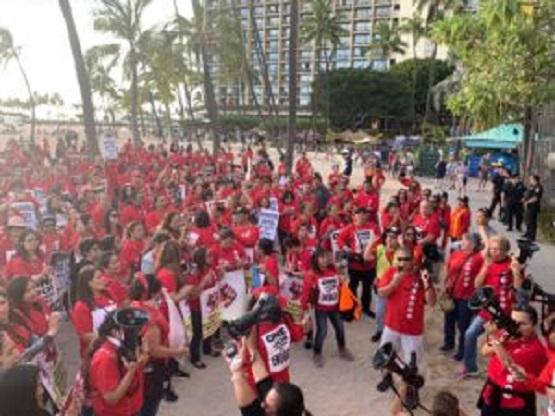 Hilton Hawaiian Village workers to vote on possible strike tomorrow
