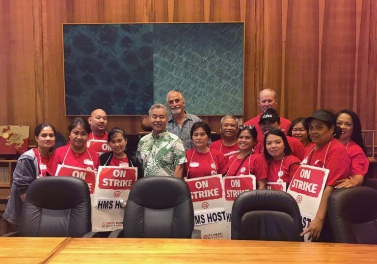 Hawaii Governor pledges support for striking Honolulu Airport workers