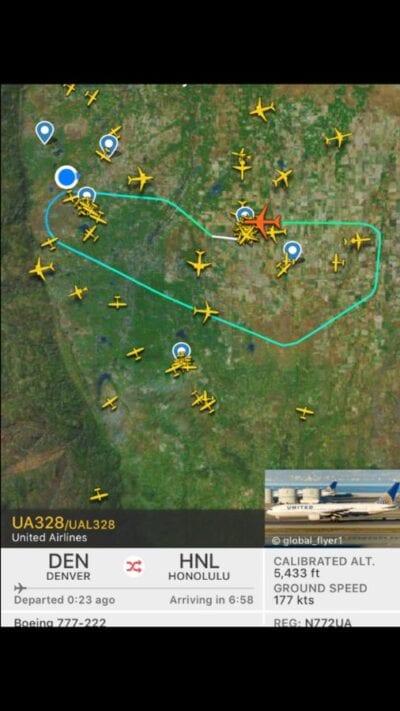 United Airlines on Fire: Denver-Honolulu UA328